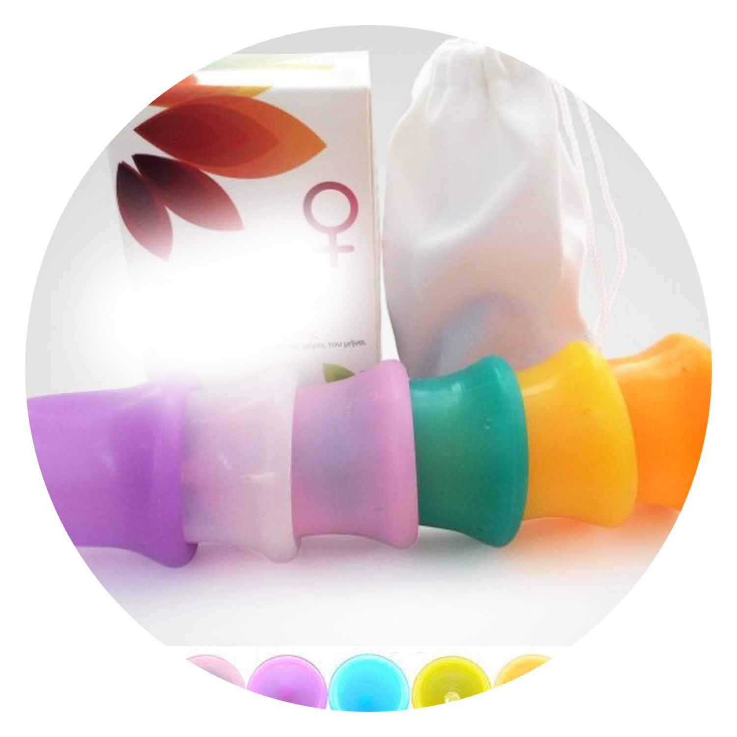 300pcs New Arriving Reusable Grade Silicone Menstrual Cup/y Cup Feminine Hygiene Product for Femcup 6 crs Choose