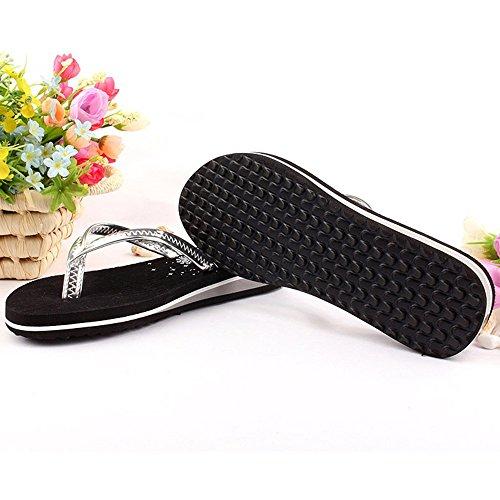 plage mode femme CN36 taille 5 2 anti Mesdames plates Couleur chaussures dérapant été pantoufles femme EU36 1 pantoufles UK3 TqnXxvw0