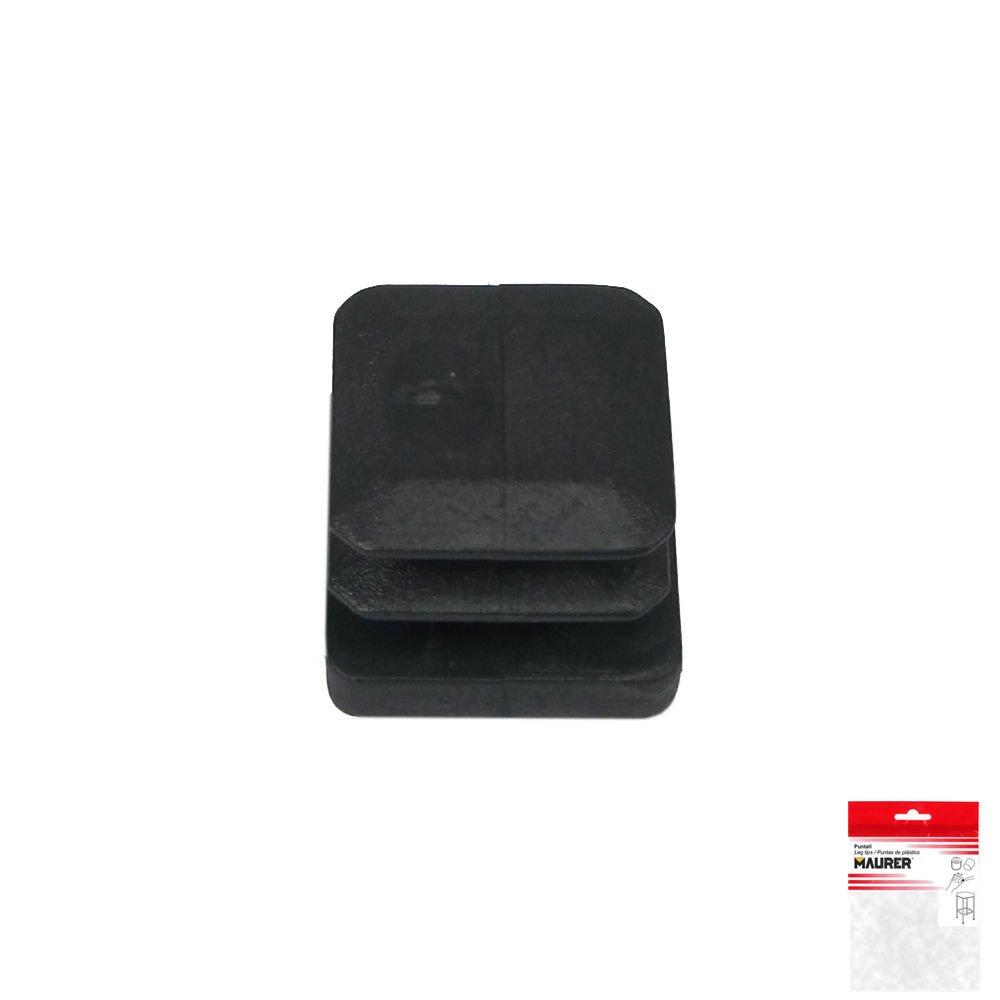 Set de 4 Piezas Maurer 5330708 Contera cuadrada de interior Negro 35 x 35 mm