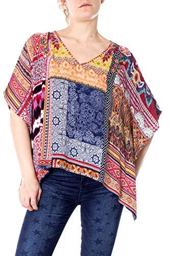 Desigual Blus Blouse 19swbwad Femme Orange Liberia rFrn6Oq1