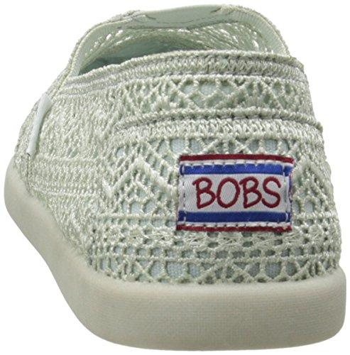 A partir de bobs bobs Skechers Mundial Resbalón-en Flat Mint