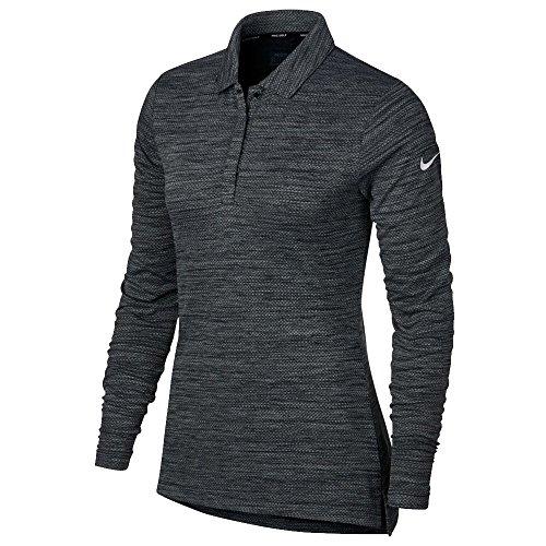 NIKE Dry Top Long Sleeve Golf Polo 2017 Women Black/White X-Small ()