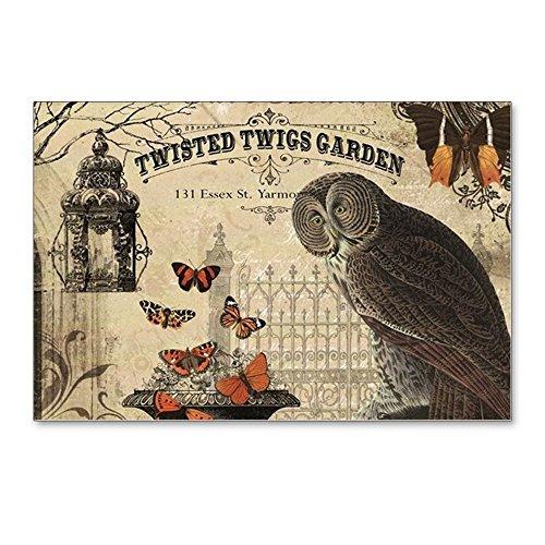 CafePress - Modern Vintage Halloween Owl Postcards (Package Of - Postcards (Package of 8), 6