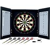 Trademark Poker Black Laminate Dart Cabinet Set