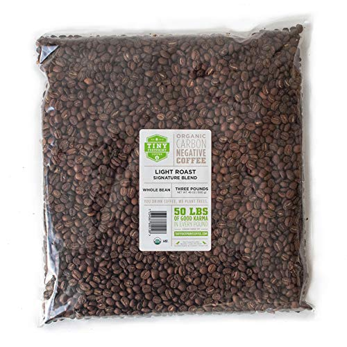 Tiny Footprint Coffee - Organic Signature Blend Light Roast | Whole Bean Coffee | USDA Organic | Carbon Negative | 3 pound