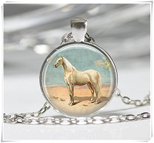 - Magical magnet Horse Necklace Pendant Wearable Art Horse Jewelry