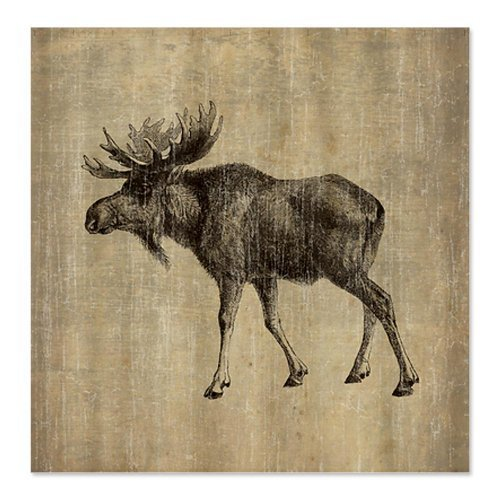 Shower Curtain Company CafePress Vintage Moose Shower Curtain - Standard White