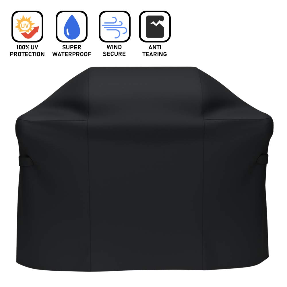 X Home Grill Cover 52 inch Fits for Weber Spirit 300 Spirit E/S-310 E/S-320 Spirit E-210 Spirit 500, 52'' BBQ Cover for Genesis Silver A/Silver B/Silver C, 600D Polyester UV & Fade Resistant Cover 7106