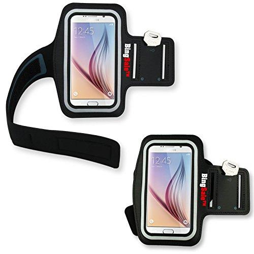 Samsung Galaxy S6 / S6 Edge Original Neoprene Deluxe Dual Fit Easy Fit Freizeit und Sport Armband Armtasche (Samsung Galaxy S6 / S6 Edge , Schwarz)
