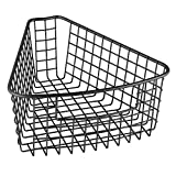 wedge pasta basket - InterDesign Classico Lazy Susan Wire Storage Basket with Handle for Kitchen Cabinets, Pantry - 1/8, Matte Black