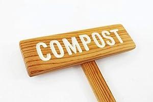 Compost Garden Marker, Composting Sign, Garden Dirt, Gardener Gift, Natural Garden, Organic Gardening, Custom Garden Marker, Personalized Sign