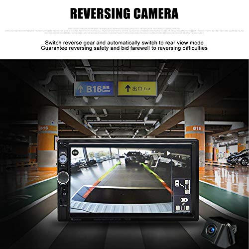 Double Din Car Stereo in-Dash Bluetooth Touch Screen 7 inch with Rear-View Camera,Video MP5/4/3 Player, Radio FM, Car Stereo Receiver, Support Steering Wheel Remote Control, Mirror Link, Caller ID by Yakalla (Image #2)