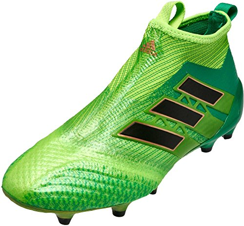 adidas JR Ace 17+ Purecontrol FG Solar Green, Size 4 by adidas