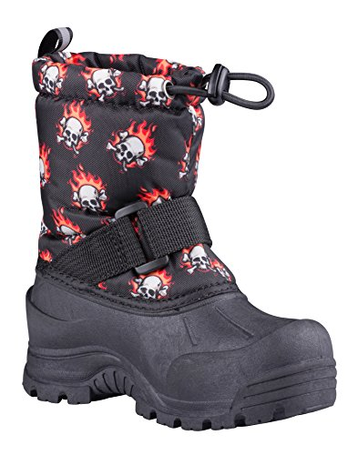 Northside Kid's Frosty Winter Snow Boot, Red/Black, 5 M US Toddler -