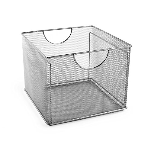 Design Ideas 34279-DI Mesh File Box, Silver