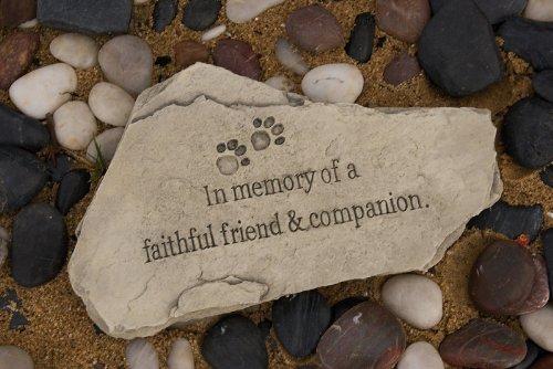"15"" Pet Memorial ""In Memory of a Faithful Friend & Companion"" Bereavement Stone"