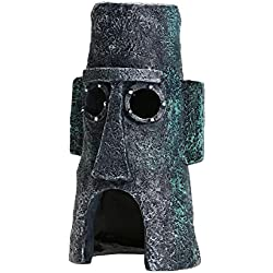 Corner Biz Aquarium - Squidward Mask Resin Crafts Aquarium Landscaping Decoration Animals House Aquatic Home Fish Tank Ornament