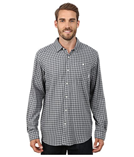 Columbia Men's Cornell Woods Flannel Long Sleeve Shirt, Graphite Twill, LG