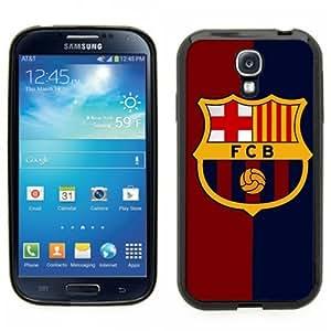 Samsung Galaxy S4 SIIII Black Rubber Silicone Case - Barcelona FCB Soccer Futsal Futbol club Messi FC