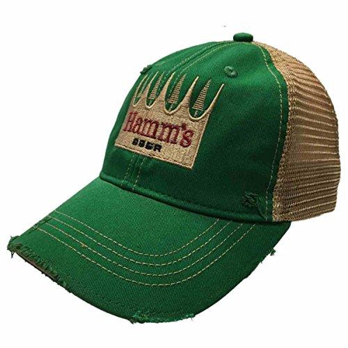 Hamm's Brewing Company Retro Brand Green Vintage Mesh Beer Adjustable Hat Cap