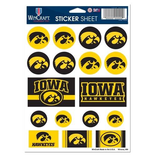 NCAA University of Iowa Vinyl Sticker Sheet, 5