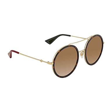 977abae0a253 Image Unavailable. Image not available for. Color: Gucci Round Havana Ladies  Sunglasses ...
