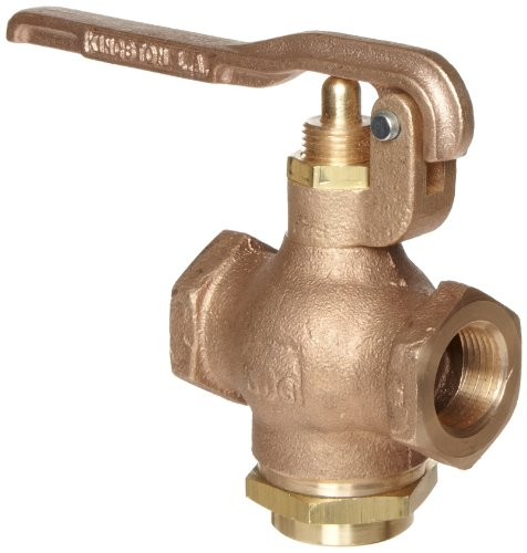 Kingston 305A Series Brass Quick Opening Flow Control Valve, Squeeze Lever, 3/4'' NPT Female by Kingston Valves