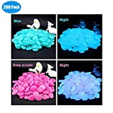 Babyrise 200Pcs Glow in the Dark Pebbles Luminous Stones Walkways Garden Path Patio Lawn Garden Yard Aquarium Fish Tank Decoration (2packs,100pcs/per pack)