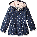 Osh Kosh Toddler Girls' Cute Midweight Fleece-Lined Jacket, Navy Gold Foil Unicorn, 2T