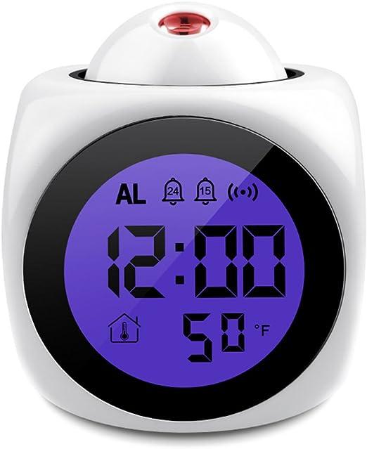 Despertador Digital,Reloj Despertador con Proyector, Función ...