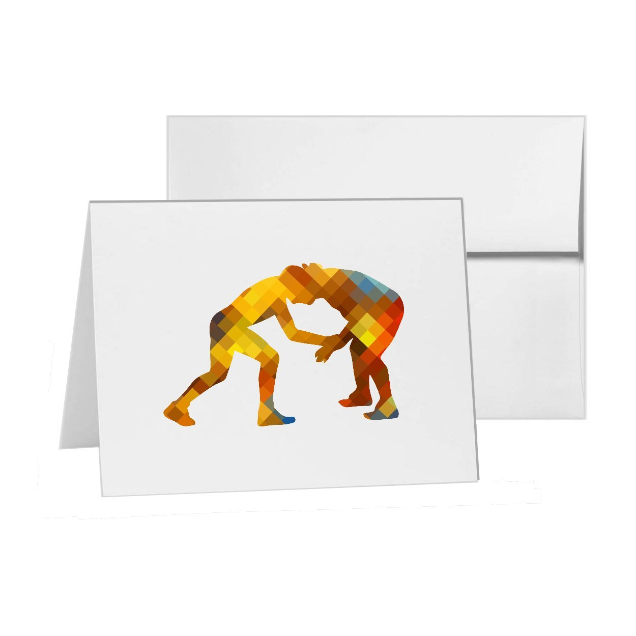 Amazon.com: Wrestler , Blank Card Invitation Pack, 15 cards ...