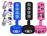 ONEX Free Standing Boxing Punching Bag Stand For Kids Target Heavy Duty Punch Bags Kickboxing MMA Martial Arts Sports Pads Dummy Gym Equipment for Home (Blue)