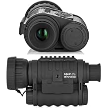 Night Vision Monocular, HD Digital Infrared Thermal Camera Scope 6x50mm with 1.5 inch TFT LCD High Power Hunting Gear Takes 5mp Photo 720 Video up to 350m/1150ft Detection Distance