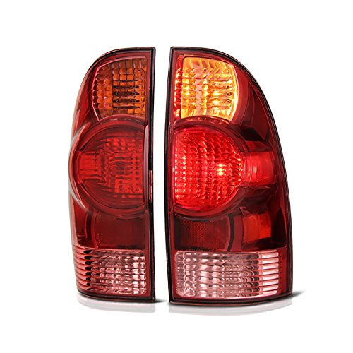 VIPMOTOZ Red Lens OE-Style Tail Light Lamp Assembly For 2005-2015 Toyota Tacoma Pickup Truck, Driver & Passenger Side ()