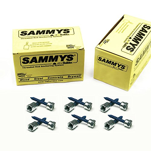 Everflow Sammys 8058957-50 CST 200 1/4 Inch Screw Vertically Threaded Rod Anchor Designed for Concrete Structure, Steel, Zinc Finish, Corrosion Resistance, 5/16 x 1-3/4 Inch Screw Length (Pack of 50) by Everflow (Image #4)