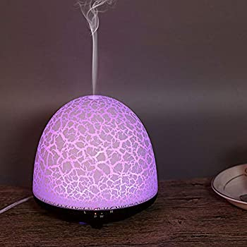 Brown E-Scenery Corn 200ml Mini Ultrasonic Cool Mist Humidifier for Home Bedroom Baby Nursery and Office Whisper-Quiet Operation /& 7 Colors LED Night Light