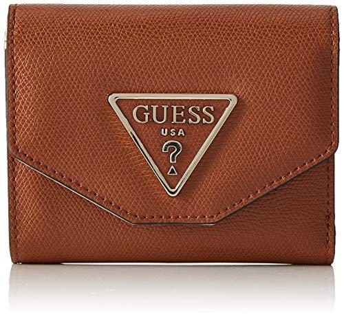 Guess Maddy Slg Small Trifold, Women's Wallet, Black (Cognac), 13x11x3 cm (W x H ()