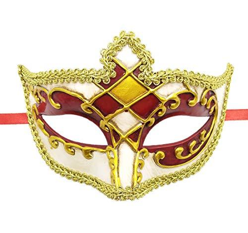 (Masquerade Mask Antique Man Venetian Roman Greek Halloween Carnival Party Easter (B)
