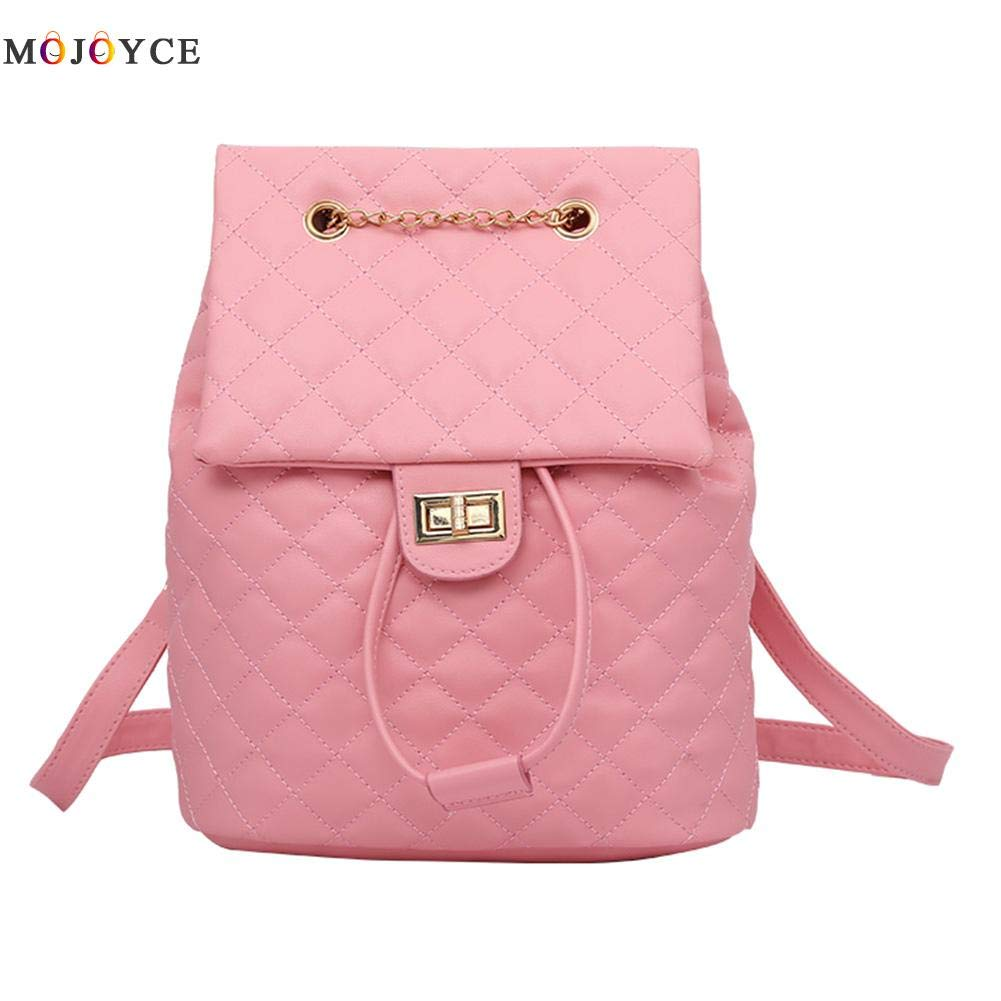 Amazon.com: Women Backpack Teenage Girls Lattice Causal Hasp Shoulder PU Leather Mochila Feminina Female Knapsack: Kitchen & Dining