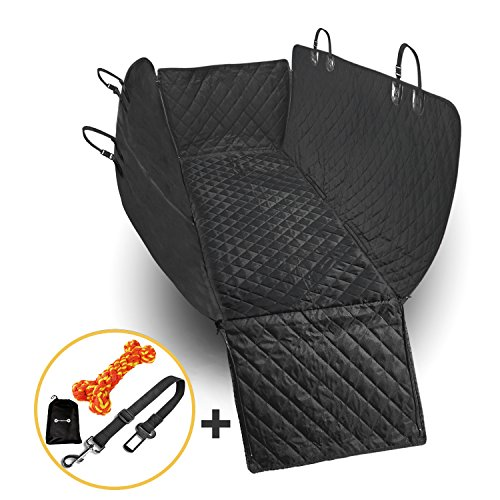 Waterproof Dog Seat Cover Non Slip Cargo Liner - Rear Seat Hammock - Pet Seat Cover for Back Seat - Bench Seat Protector - Dog Seat Cover for Back Seat Heavy Duty for Cars Trucks SUV- Sedan Van Pickup (Liner Quilted Zip Out)