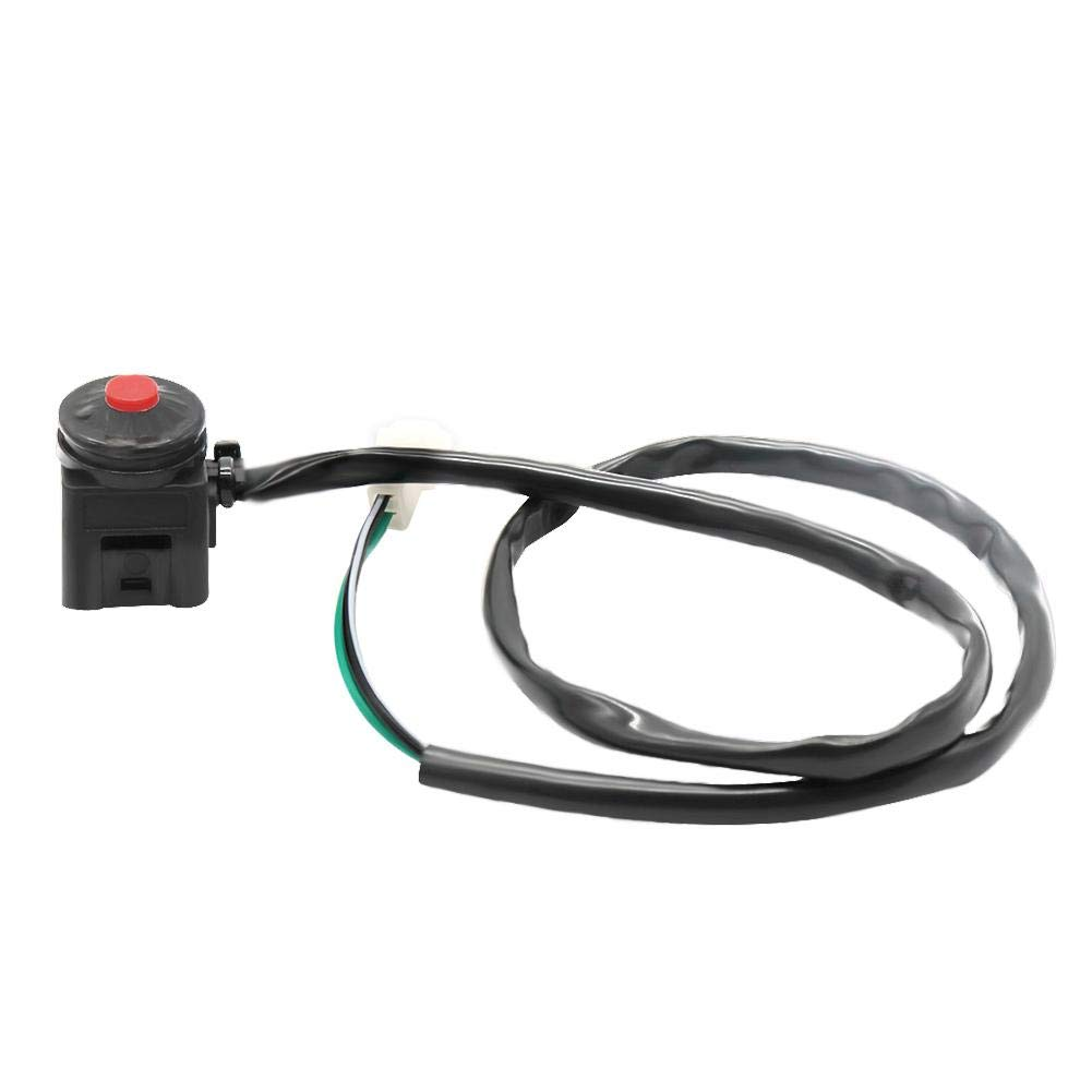 Motorcycle Red Push Button Kill Stop Switch for Dirt Bike KTM ATV Childplaymate