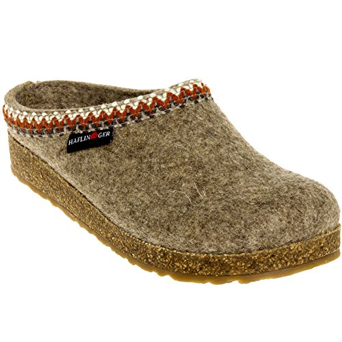 HAFLINGER Grizzly Zig Zag Earth Womens Clogs Size 40M Brown