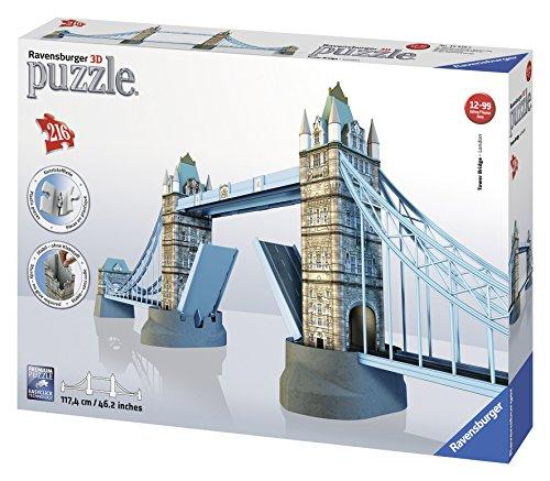 Ravensburger 12559 - Tower Bridge-London - 216 Teile 3D Puzzle-Bauwerke