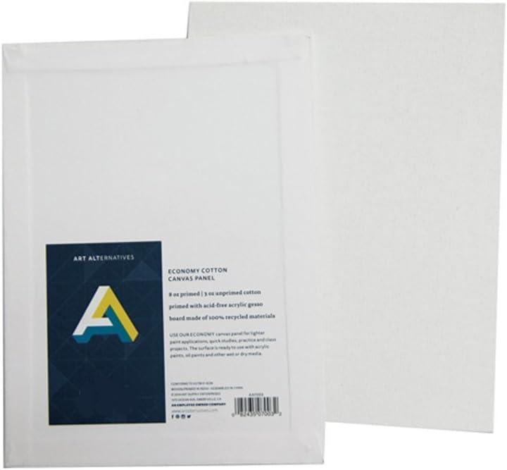 Art Alternatives Economy Artist White Canvas Super Value Pack-11 X 14 Of 7