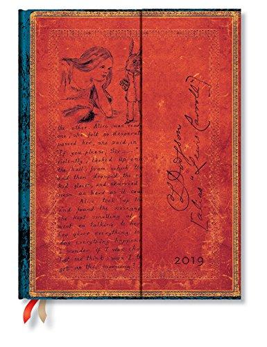 Paper Blanks –  'PAPERBLANKS –  Lewis Carroll Alice nel paese delle meraviglie –  Calendario 12 mesi 2019 Ultra settimana ueberblick Verticale –  Edizione in lingua tedesca