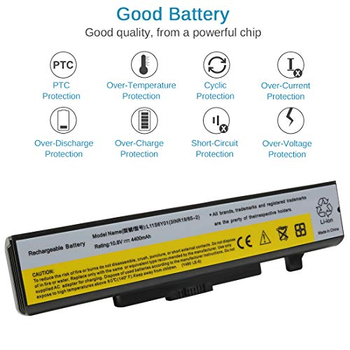 Ankon 48Wh Laptop Battery for Lenovo IdeaPad Y480 Y580 Series G480 G580  Z380 Z480 Z580 Series Compatible P/N:L11S6Y01 L11L6Y01 45N1043 Series
