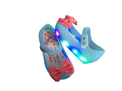 Super color Baby Girl Jelly Sandals Light up Shoes Cute Princess Toddler for Kid Girls LED Shoes