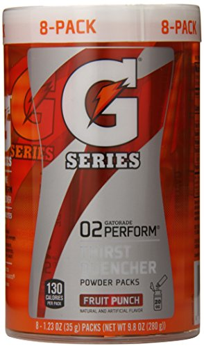 Gatorade Perform 02 Powder Packet G2 - Fruit Punch (8-1.23 ounce Packets)