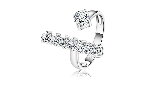 Gemmart Silver Color Infinity Ring with Shiny Austrian womens engagement rings womens fashion rings