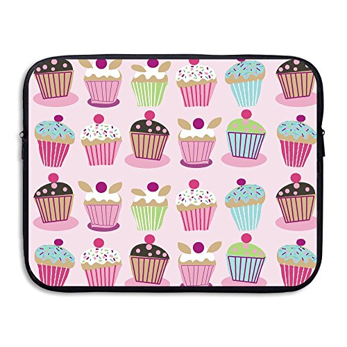 Fonsisi Laptop Storage Bag Cute Pink Cake Portable Waterproof Laptop Case Briefcase Sleeve Bags -